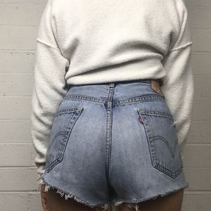 •Vintage Levi's 505 High Waisted Distressed short